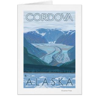 氷河場面- Cordova、アラスカ カード