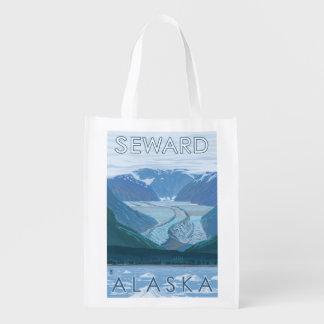 氷河場面- Seward、アラスカ エコバッグ