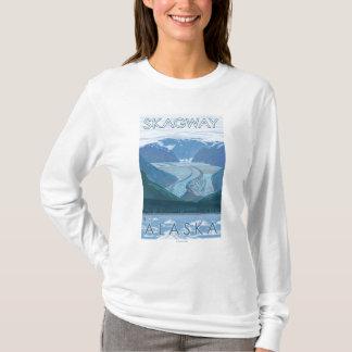 氷河場面- Skagway、アラスカ Tシャツ