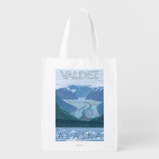 氷河場面- Valdez、アラスカ エコバッグ