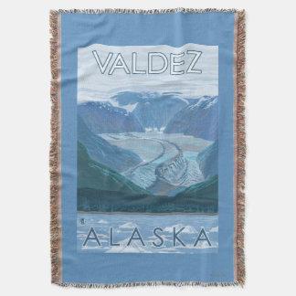 氷河場面- Valdez、アラスカ スローブランケット