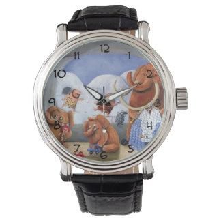 氷河期のマンモス家族 腕時計