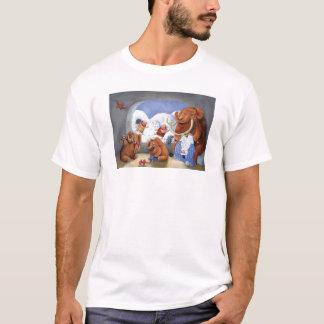 氷河期のマンモス家族 Tシャツ