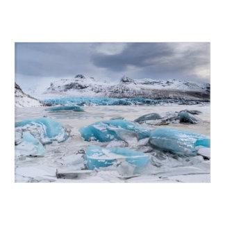 氷河氷の景色、アイスランド アクリルウォールアート