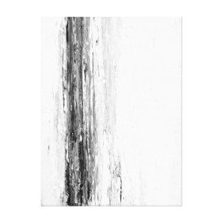 「氷河」白黒抽象美術 キャンバスプリント