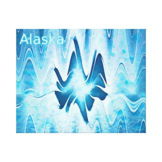 氷湖-アラスカ キャンバスプリント