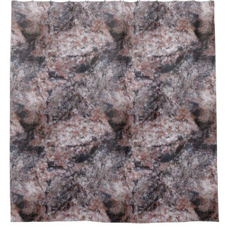 氷砂糖のピンクがかった質 シャワーカーテン