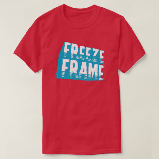 氷結フレームのレトロのタイポグラフィの写実的な大衆文化 Tシャツ