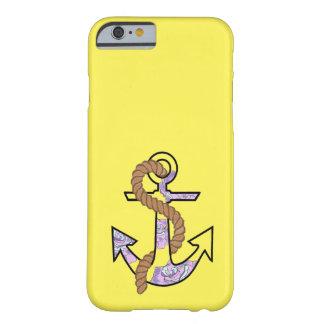 永久にいかり青および紫色 BARELY THERE iPhone 6 ケース