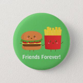 永久にかわいいハンバーガーおよび揚げ物の友人 缶バッジ