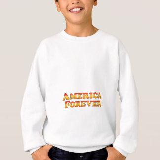 永久にアメリカの-衣服だけ スウェットシャツ