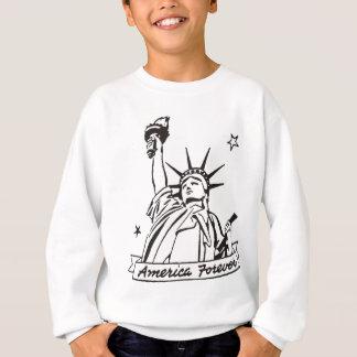 永久にアメリカ自由の女神 スウェットシャツ