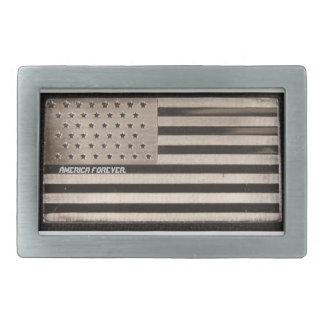"""""""永久にアメリカ""""の米国旗のベルトの留め金 長方形ベルトバックル"""