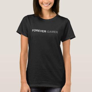 永久にゲーマーの女の子のオタクのおたくのかわいいワイシャツ Tシャツ