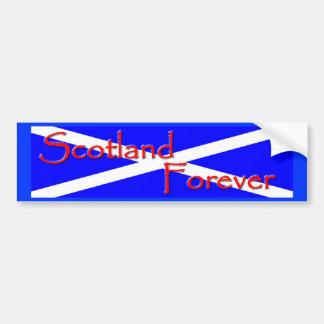 永久にスコットランドのバンパーステッカー バンパーステッカー