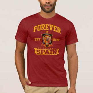 永久にスペインのサッカーチームファン Tシャツ