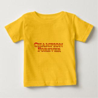永久にチャンピオンの-衣服だけ ベビーTシャツ