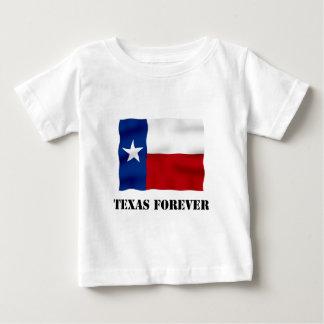永久にテキサス州-旗の文字- Multi_Products ベビーTシャツ