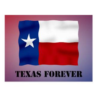 永久にテキサス州-旗の文字- Multi_Products ポストカード