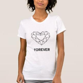 永久にハートのダイヤモンドのTシャツ Tシャツ