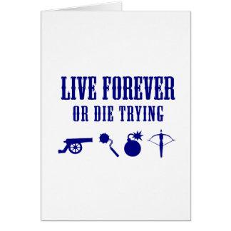 永久に住みますか、または試みることを死んで下さい(武器) カード