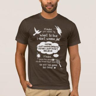 """""""永久に住んで下さいオアシス[人のO首の半袖]によって"""" Tシャツ"""