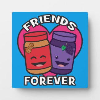 永久に友人-ピーナッツバターおよびゼリーのかわいい フォトプラーク