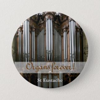 永久に器官! St Eustacheボタン 7.6cm 丸型バッジ