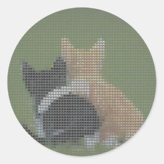 永久に最も最高のな猫 ラウンドシール