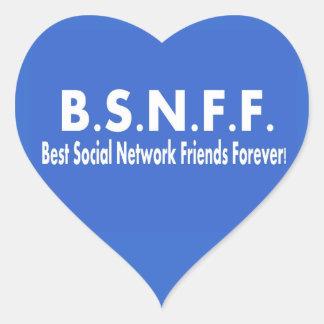 永久に最も最高のな社会的なネットワークの友人 (BSNFF) ハートシール