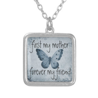 永久に最初に私の母私の友人 シルバープレートネックレス
