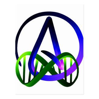 永久に無神論者の紫色および緑 ポストカード