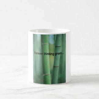 永久に緑のコップを考えること コーヒーマグカップ