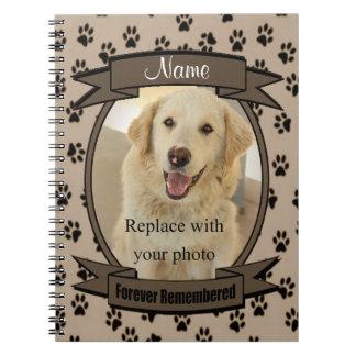 永久に覚えることができるペット損失-犬か猫-茶色 ノートブック