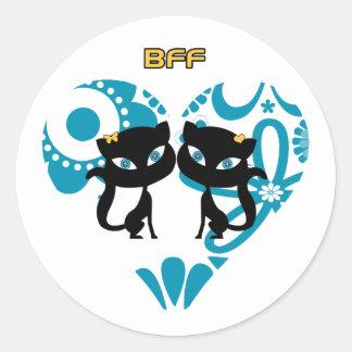 永久に親友 (BFF) ラウンドシール