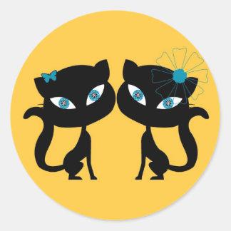 永久に親友 (BFF)、私は猫を愛します! ラウンドシール