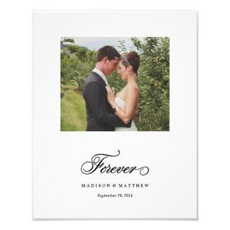 永久に|の名前入りな結婚式のプリント 写真アート