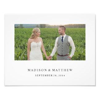 永久に|の名前入りな結婚式のプリント 写真
