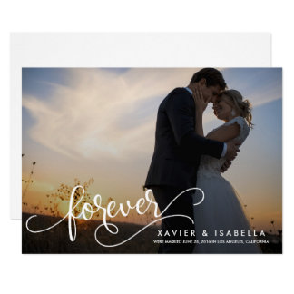 永久に|の結婚の発表 カード