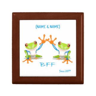 永久にBFFの親友のカエルの記念品箱 ギフトボックス