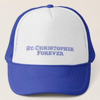 永久にSt Christopherの-斜めの基本 キャップ
