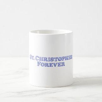 永久にSt Christopherの-斜めの基本 コーヒーマグカップ