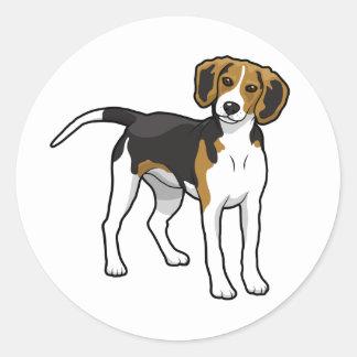 永続的なビーグル犬 ラウンドシール