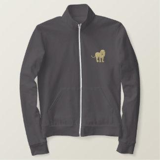 永続的なライオン 刺繍入りジャケット