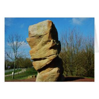 永続的な石の挨拶状 カード