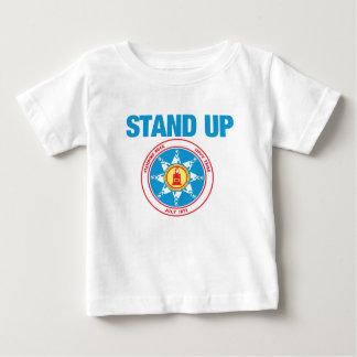 永続的な石を擁護して下さい ベビーTシャツ