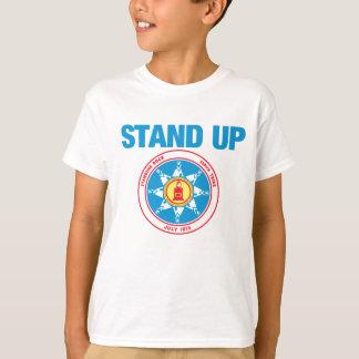 永続的な石を擁護して下さい Tシャツ