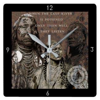 永続的な石 スクエア壁時計