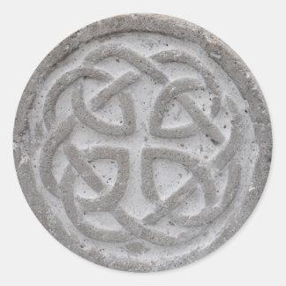 永遠のケルト結び目模様の石の封筒用シール ラウンドシール
