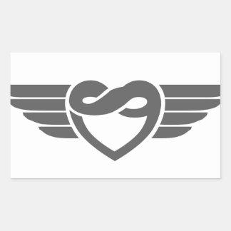 永遠のハートの翼 長方形シール